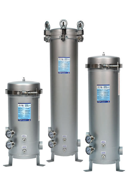 Stainless steel filter housings for Jumbo filter cartridges